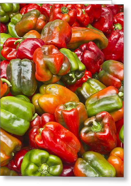 Greeting Card featuring the photograph Peppers by Ricky L Jones