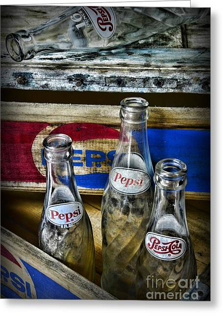 Pepsi Bottles And Crates Greeting Card