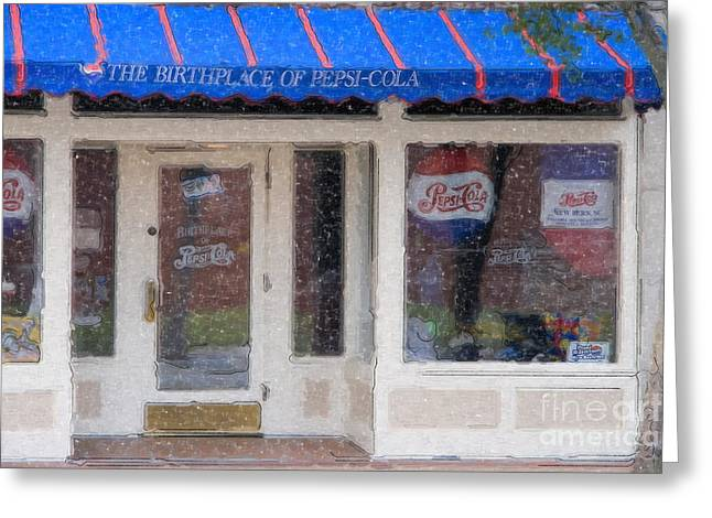 Pepsi Cola Birthplace Watercolor Greeting Card