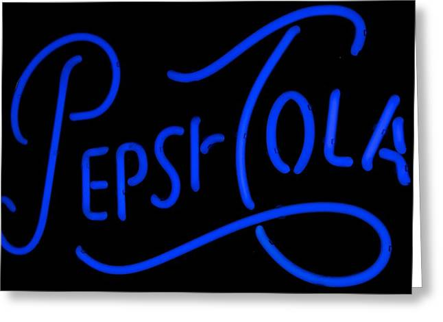 Pepsi Cola Neon Greeting Card