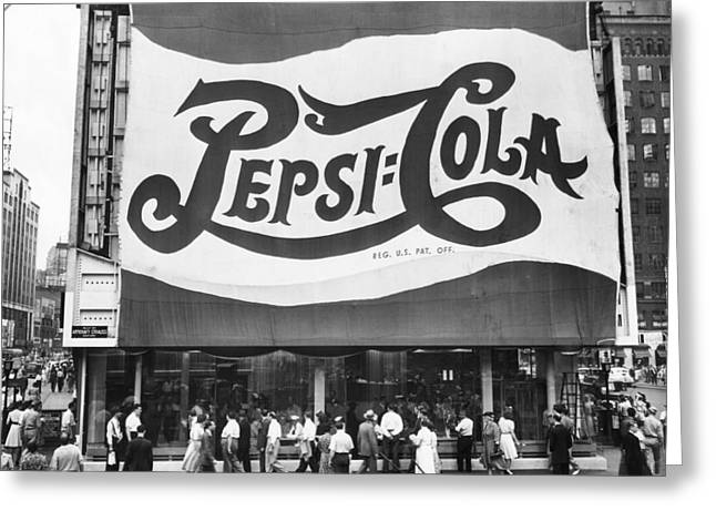 Pepsi Cola Sign Greeting Card by MMG Archives