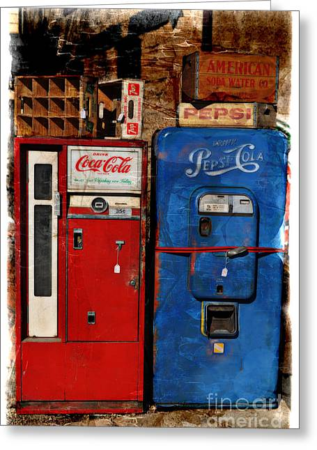 Pepsi Greeting Card by Mary Machare