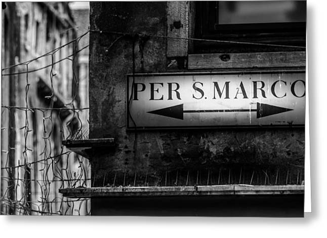 Per S. Marco Venice Greeting Card by Colin Utz