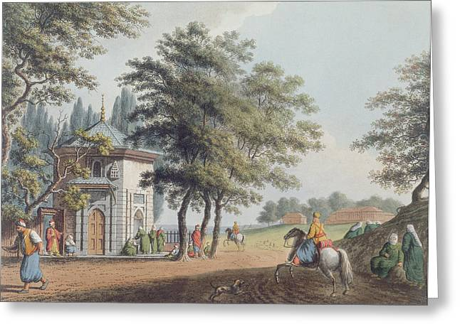 Pera, Plate 3 From Views In The Ottoman Greeting Card by Luigi Mayer