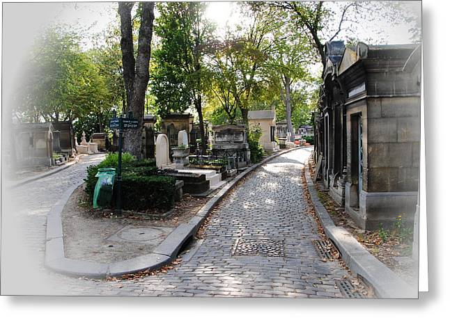 Pere Lachaise Cemetery Paris Greeting Card by Jacqueline M Lewis