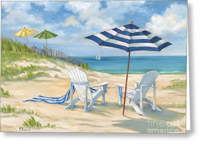 Perfect Beach Blue  Greeting Card by Paul Brent