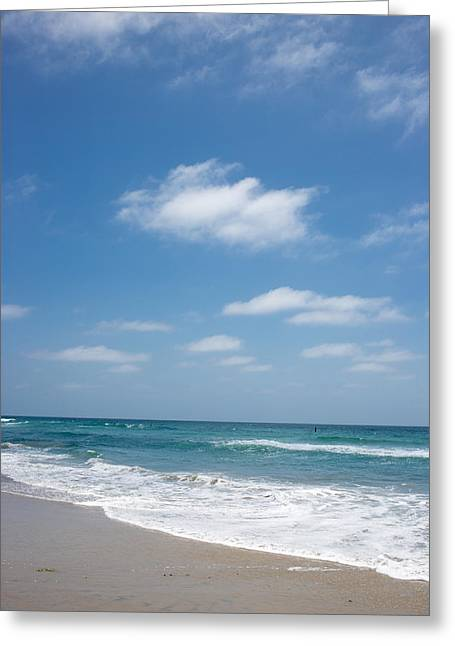 Perfect Day Pacific Beach Greeting Card by Peter Tellone