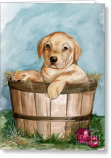 Greeting Card featuring the painting Perfect Fit by Nancy Patterson