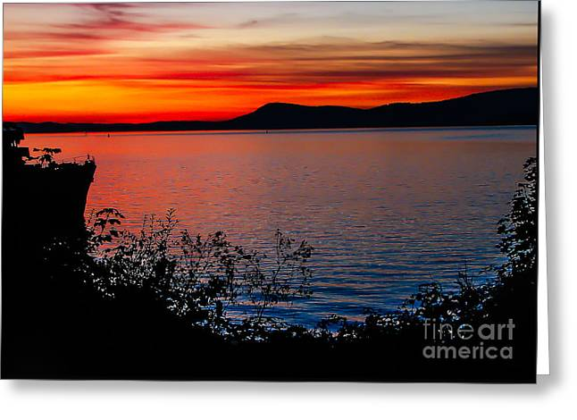 Perfect Marine Sunset Greeting Card by Robert Bales
