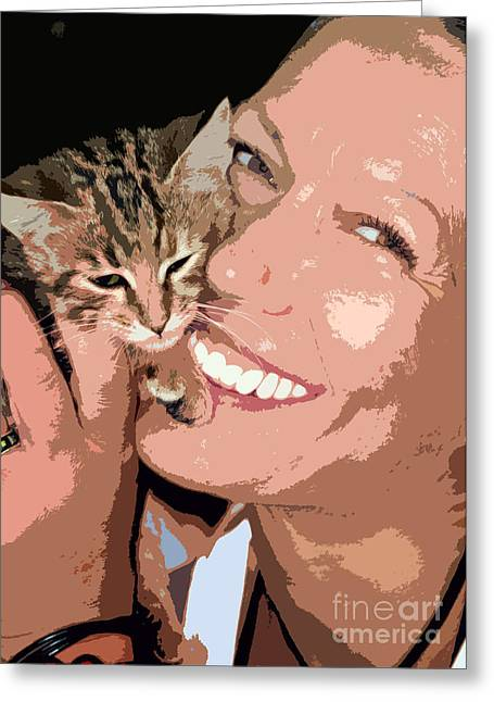 Perfect Smile Greeting Card by Stelios Kleanthous