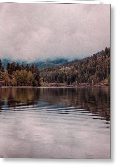 Perfectly Cloudy Lake Greeting Card by Omaste Witkowski