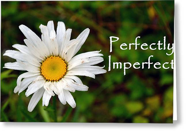 Perfectly Imperfect Daisy Flower Greeting Card