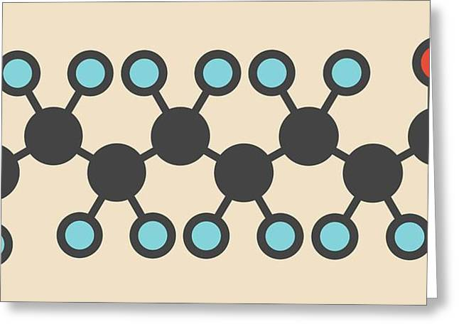 Perfluorooctanoic Acid Molecule Greeting Card by Molekuul