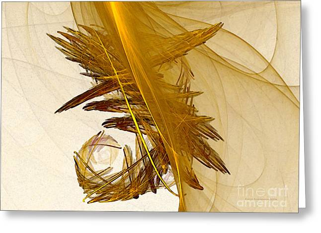 Performance Abstract Art Greeting Card by Karin Kuhlmann