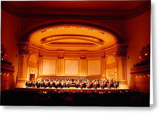 Performers On A Stage, Carnegie Hall Greeting Card by Panoramic Images