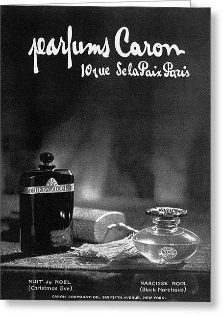 Perfume Ad, 1925 Greeting Card by Granger