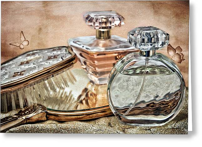 Perfume Bottle Ix Greeting Card by Tom Mc Nemar