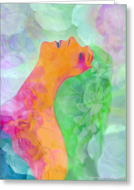 Greeting Card featuring the digital art Perfume Of Love by Martina  Rathgens