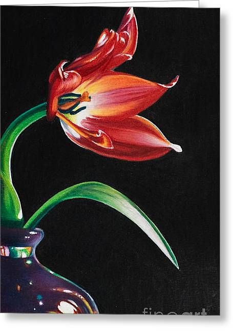 Perfumed Brilliance Greeting Card by Arlene Steinberg