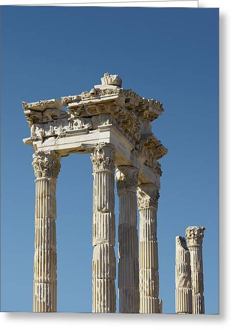 Pergamon Temple Of Trajan Greeting Card by David Parker