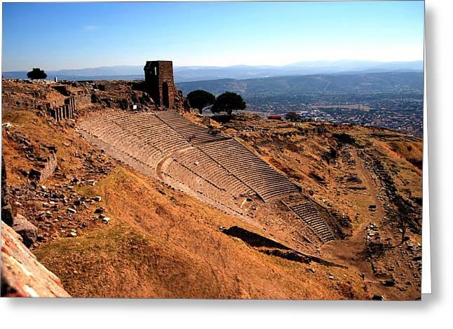 Pergamum - Theatre Greeting Card by Jacqueline M Lewis