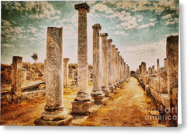 Perge's Road Greeting Card by Emily Kay