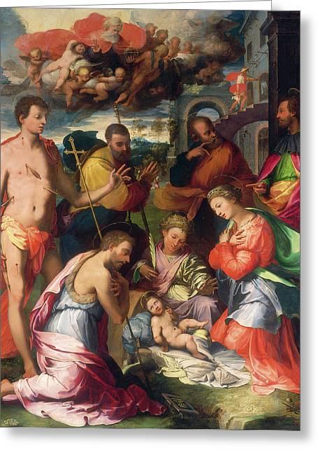 Perino Del Vaga, The Nativity, Italian, 1501-1547 Greeting Card by Litz Collection