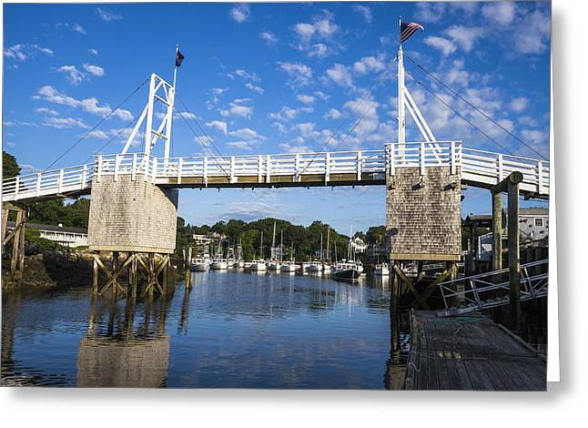 Perkins Cove - Maine Greeting Card by Steven Ralser