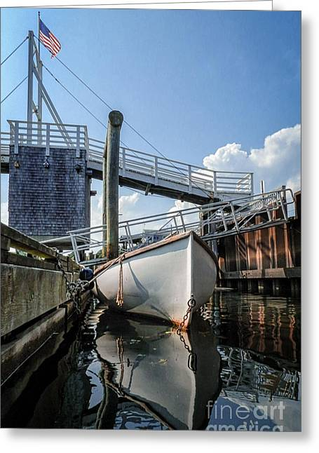 Perkins Cove Reflection Greeting Card by Scott Thorp