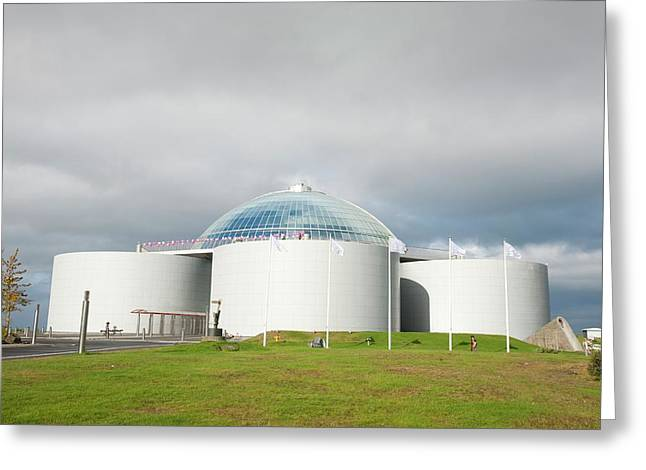 Perlan Building Greeting Card