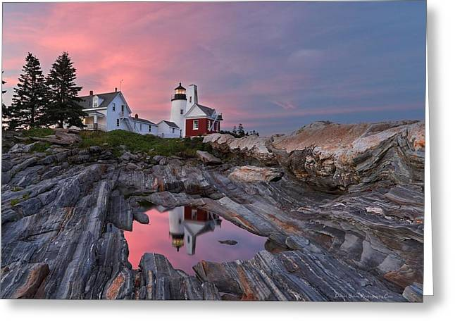 Permaquid Lighthouse Greeting Card by Daniel Behm
