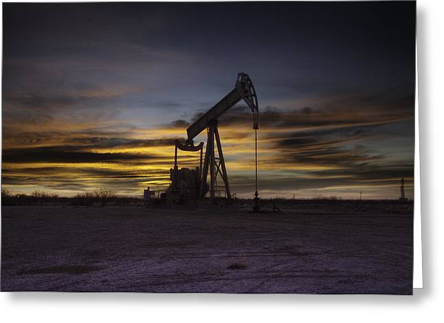 Permian Basin Gold Greeting Card