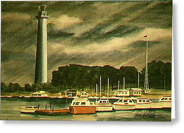 Perrys Monument On Put In Bay Greeting Card