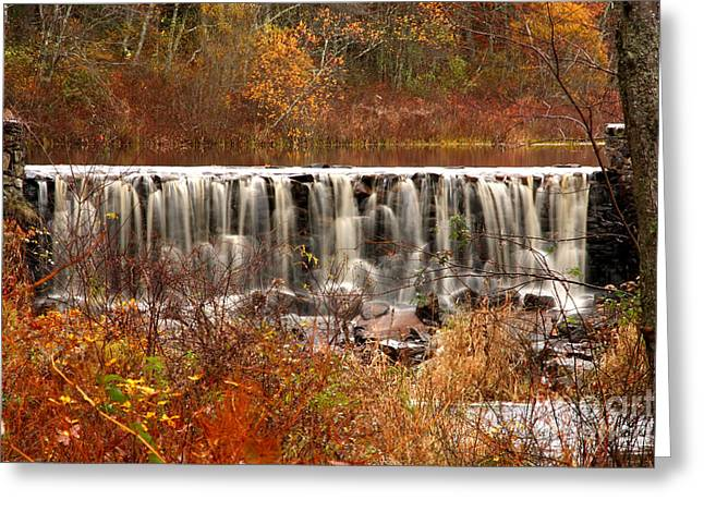 Perryville Dam Rehoboth Ma Greeting Card by Butch Lombardi
