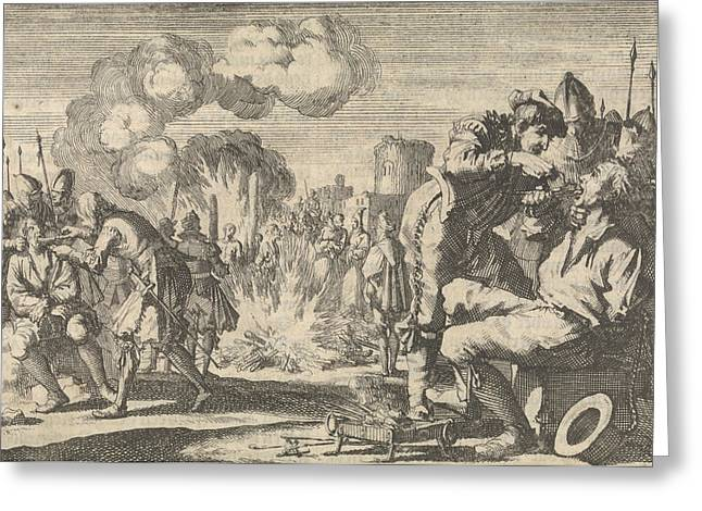 Persecution Of The Reformers In The Netherlands Greeting Card