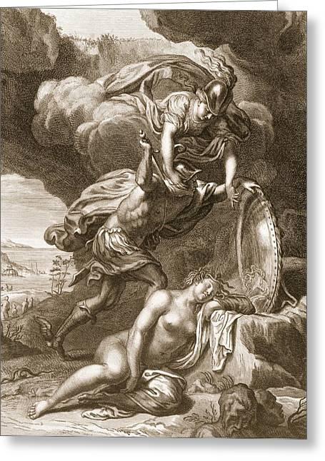 Perseus Cuts Off Medusas Head, 1731 Greeting Card by Bernard Picart