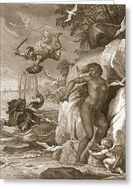 Perseus Delivers Andromeda From The Sea Greeting Card