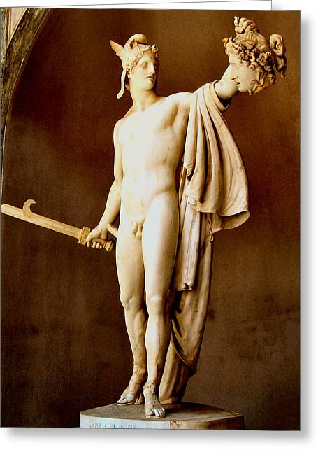 Perseus With The Head Of Medusa  Greeting Card by Antonio Canova