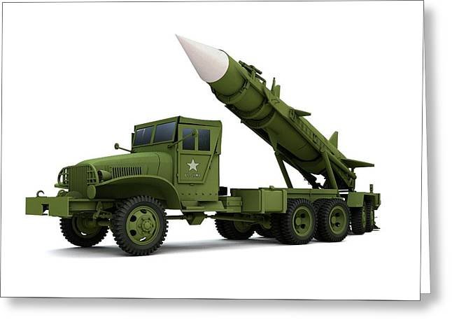 Nuclear Missile, Illustration Greeting Card