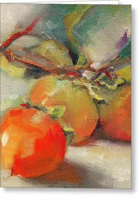 Persimmons Greeting Card