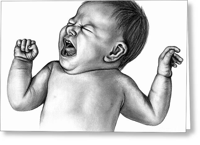 Persistent Crying In Infants May Lead Greeting Card by Enid Gottlieb