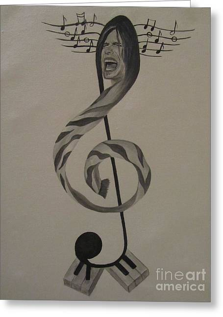Personification Of Music Greeting Card