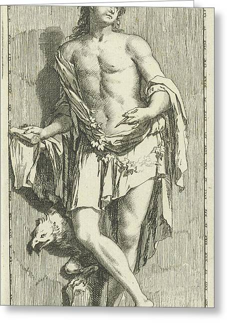 Personification Of Poetry, Arnold Houbraken Greeting Card