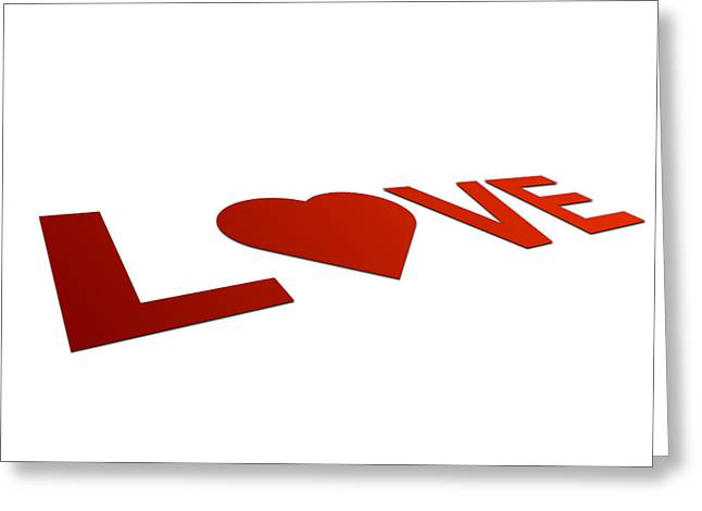Perspective Love Sign Greeting Card by Aged Pixel