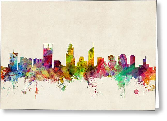 Perth Australia Skyline Greeting Card
