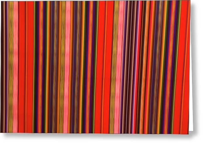 Peru, Colorful Fabric Greeting Card by Jaynes Gallery