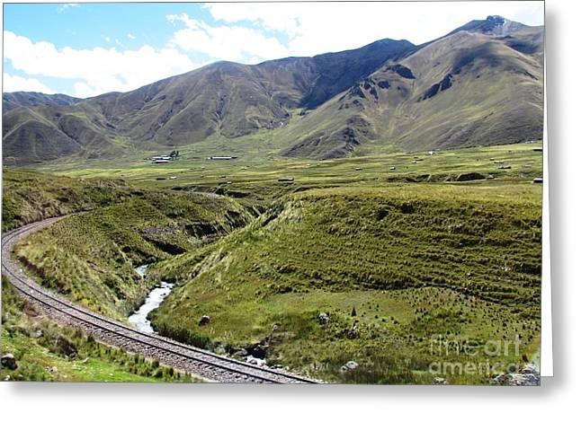 Peru Mountain Pass Rail Road Greeting Card
