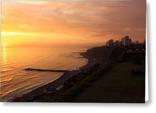 Peruvian Sunset Greeting Card