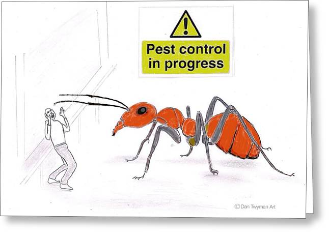 Pest Control Greeting Card