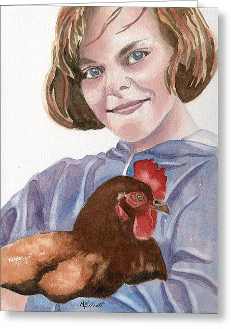 Pet Chicken Greeting Card